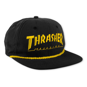 Rope Snapback Cap Black/Yellow