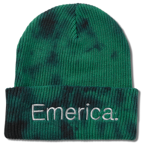Tied Cuff Beanie Green/Black