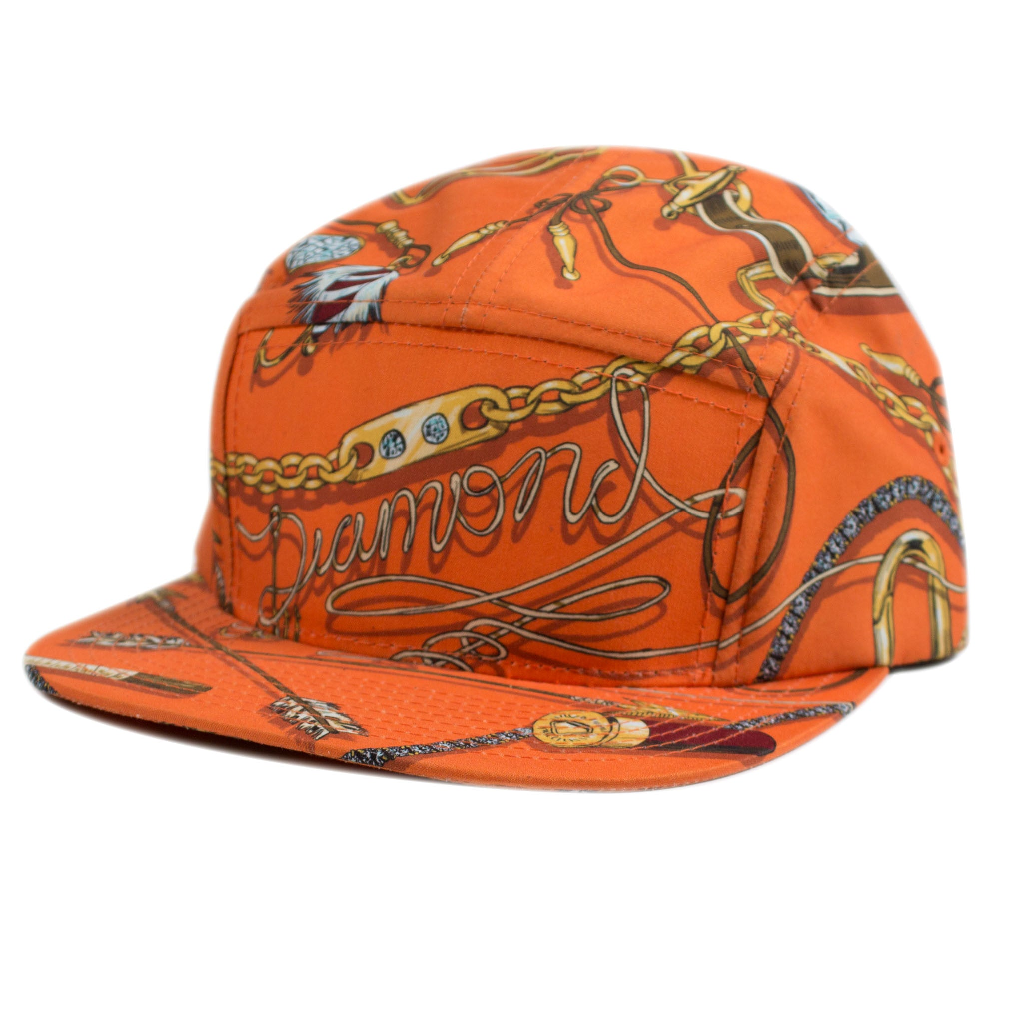 5 panel Swag Orange strapback Cap - Stoked Boardshop