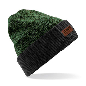 Two Tone Beanie Antique Moss black