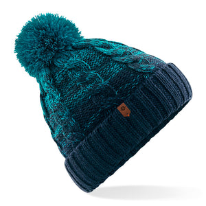 Womens Special Blend Pom beanie Teal French Navy