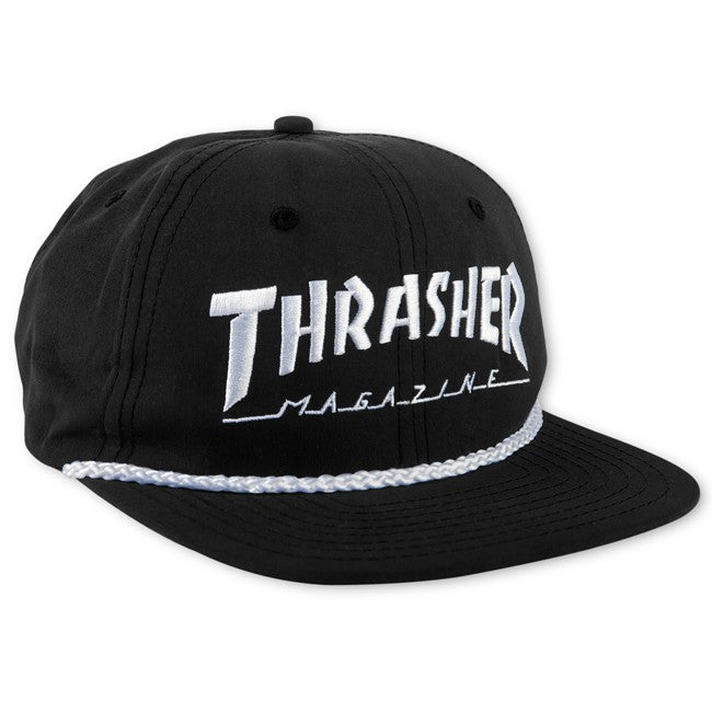 Rope snapback cap black white - Stoked Boardshop