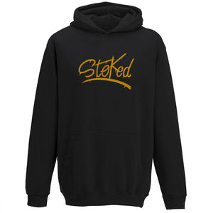Youth Stoked Spray black Hoodie