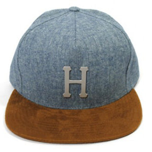 Metal H strapback - Navy - Stoked Boardshop