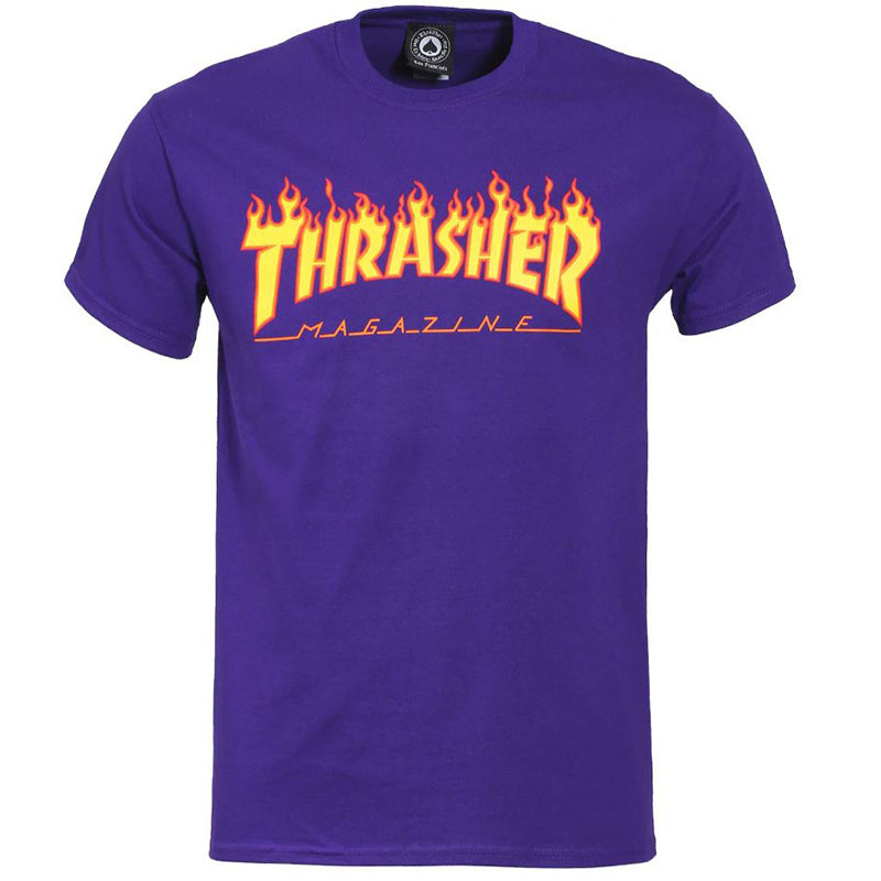 Flame Logo T-Shirt Purple