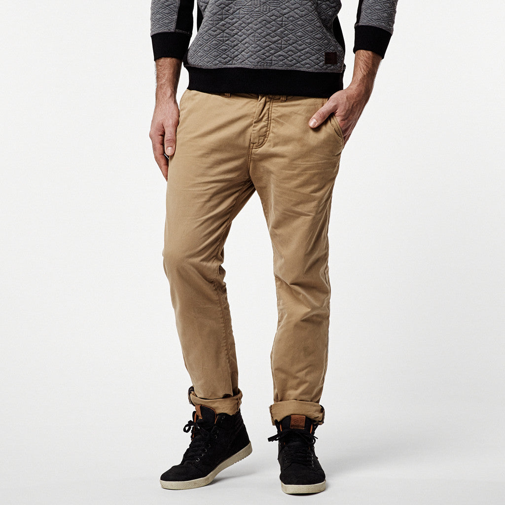Friday Night  Chino Pants - Lifestyle Boys Marl Brown - Stoked Boardshop  - 2