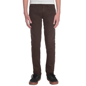 Kids 2x4 By 5 Pocket Twill Dark Chocolat - Stoked Boardshop
