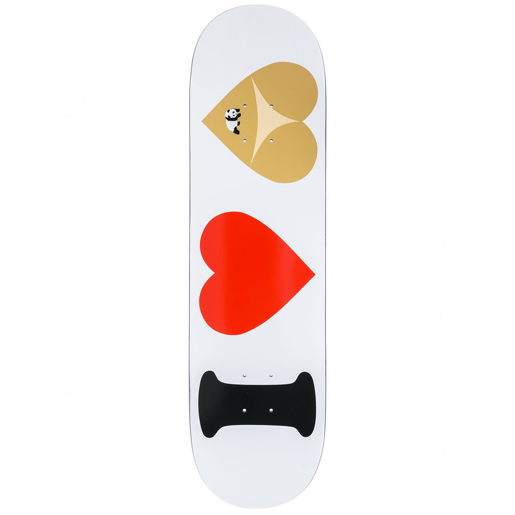 "I Heart Hearts White 8.375"" Skateboard Deck"