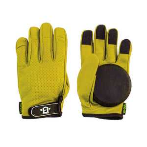 Lederen Slide Gloves Geel - Stoked Boardshop