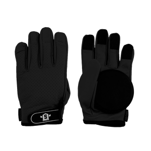 Lederen Slide Gloves Black - Stoked Boardshop