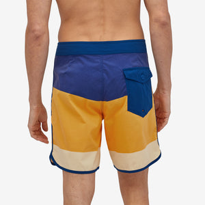 "Scallop Hem Stretch Wavefarer 18"" Boardshort Bayou Palmetto Stripe Saffron"