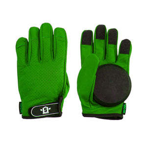 Lederen Slide Gloves Green - Stoked Boardshop