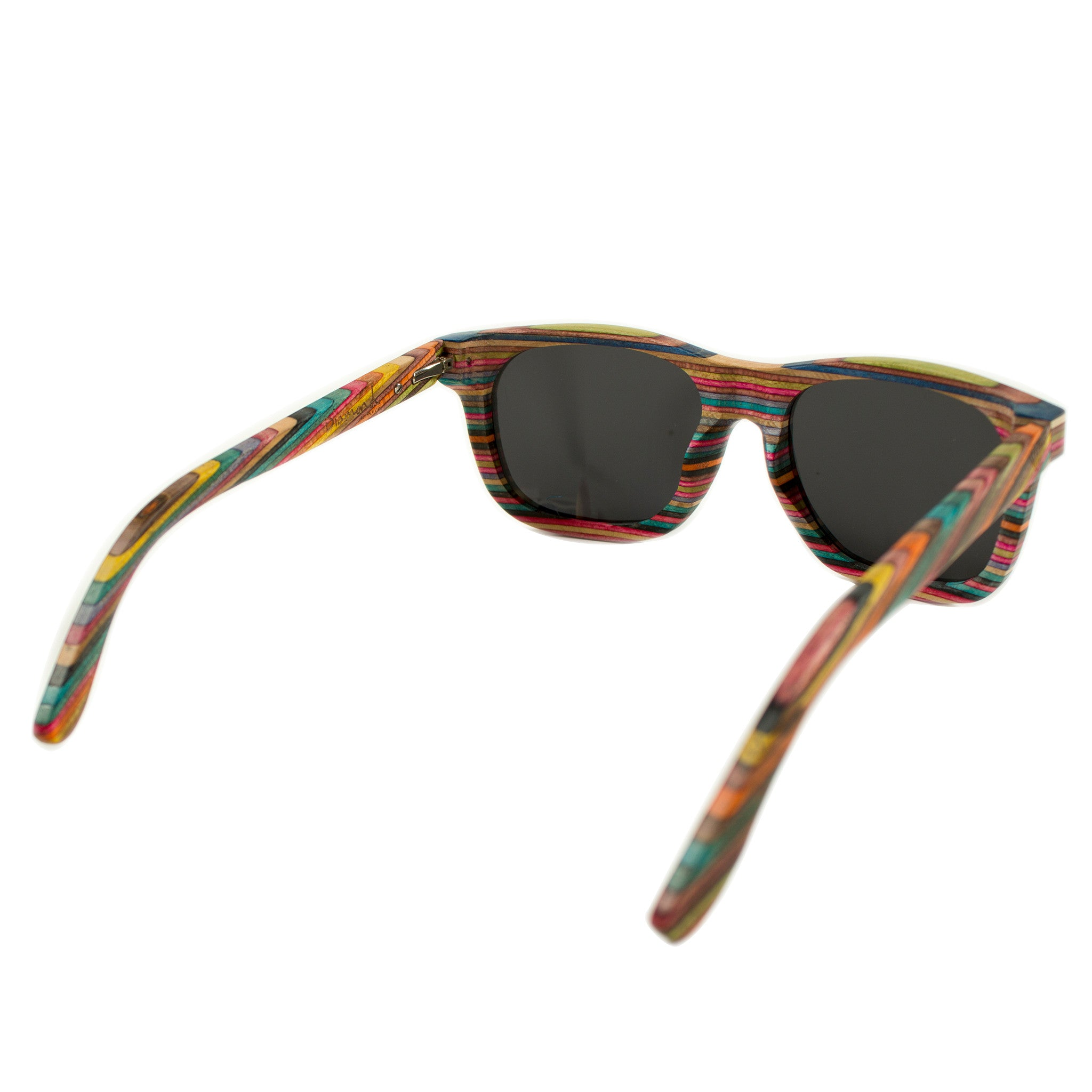 Recycled Skateboard Wood Sunglasses - Stoked Boardshop  - 2