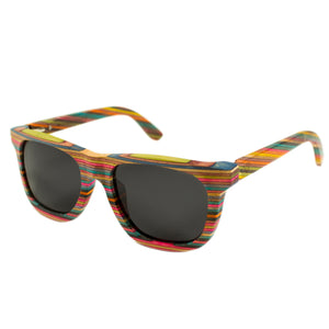 Recycled Skateboard Wood Sunglasses - Stoked Boardshop  - 1