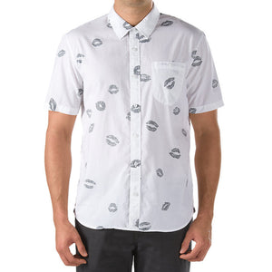 Carnelian White Hot Lips Button down shirt - Stoked Boardshop  - 1