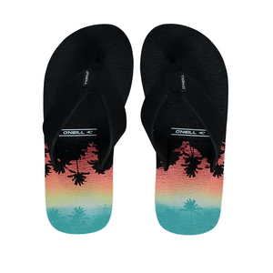 FB Imprint Pattern Flip Flop Red AOP w/ Yellow - Stoked Boardshop