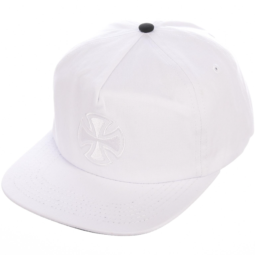 Bar Cross Fade Out Snapback Cap White
