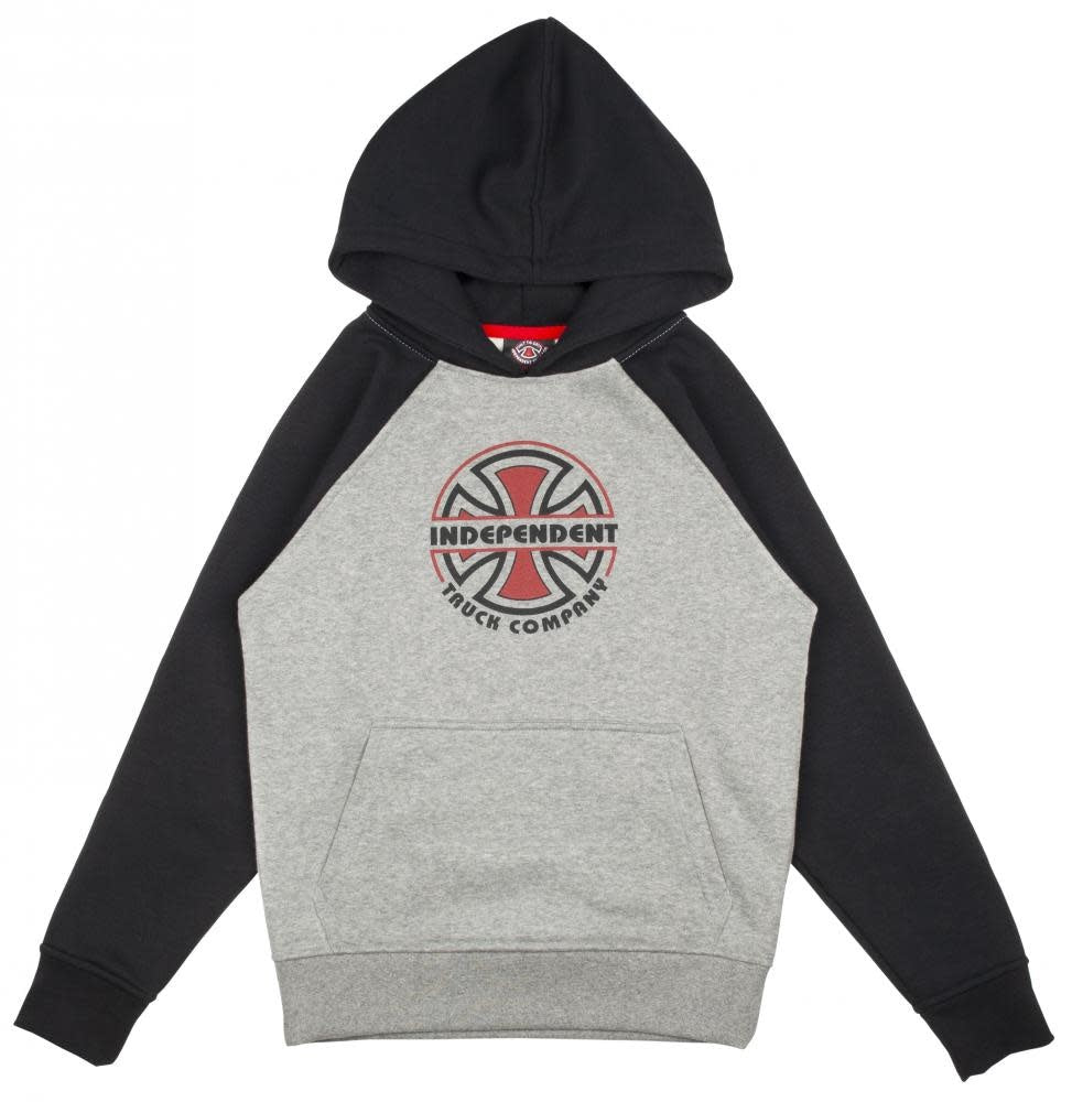 Kids ITC Bauhaus Raglan Hood Black/ Heather Grey