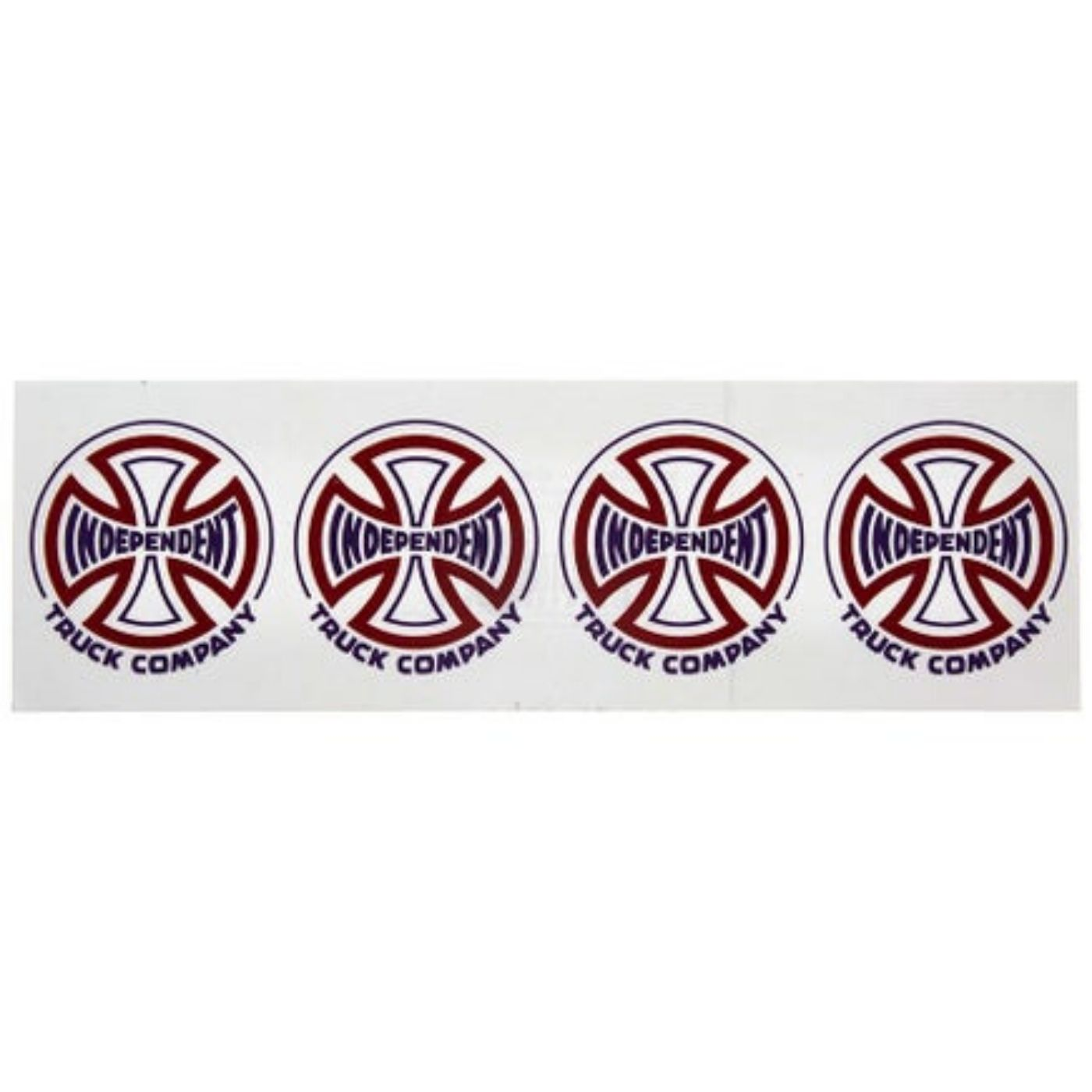 "Two Tone Clear Mylar Sticker 8"" Purple/ Red"