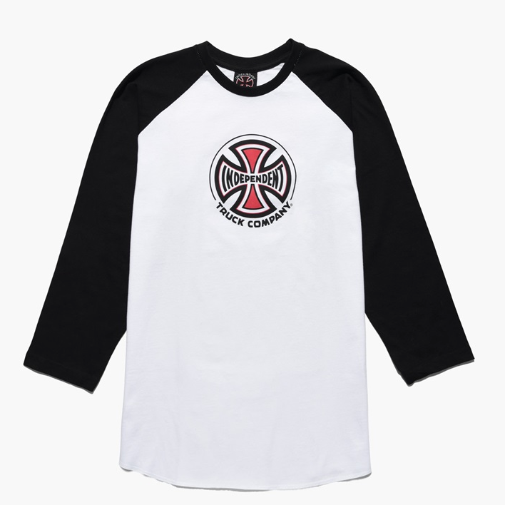 Kids Truck Co. Baseball Longsleeve T-Shirt Black/ White