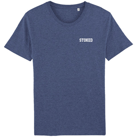 Script Indigo heather t-shirt