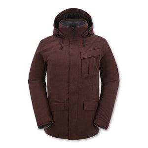 Jan Jacket - Burgundy - Stoked Boardshop  - 1