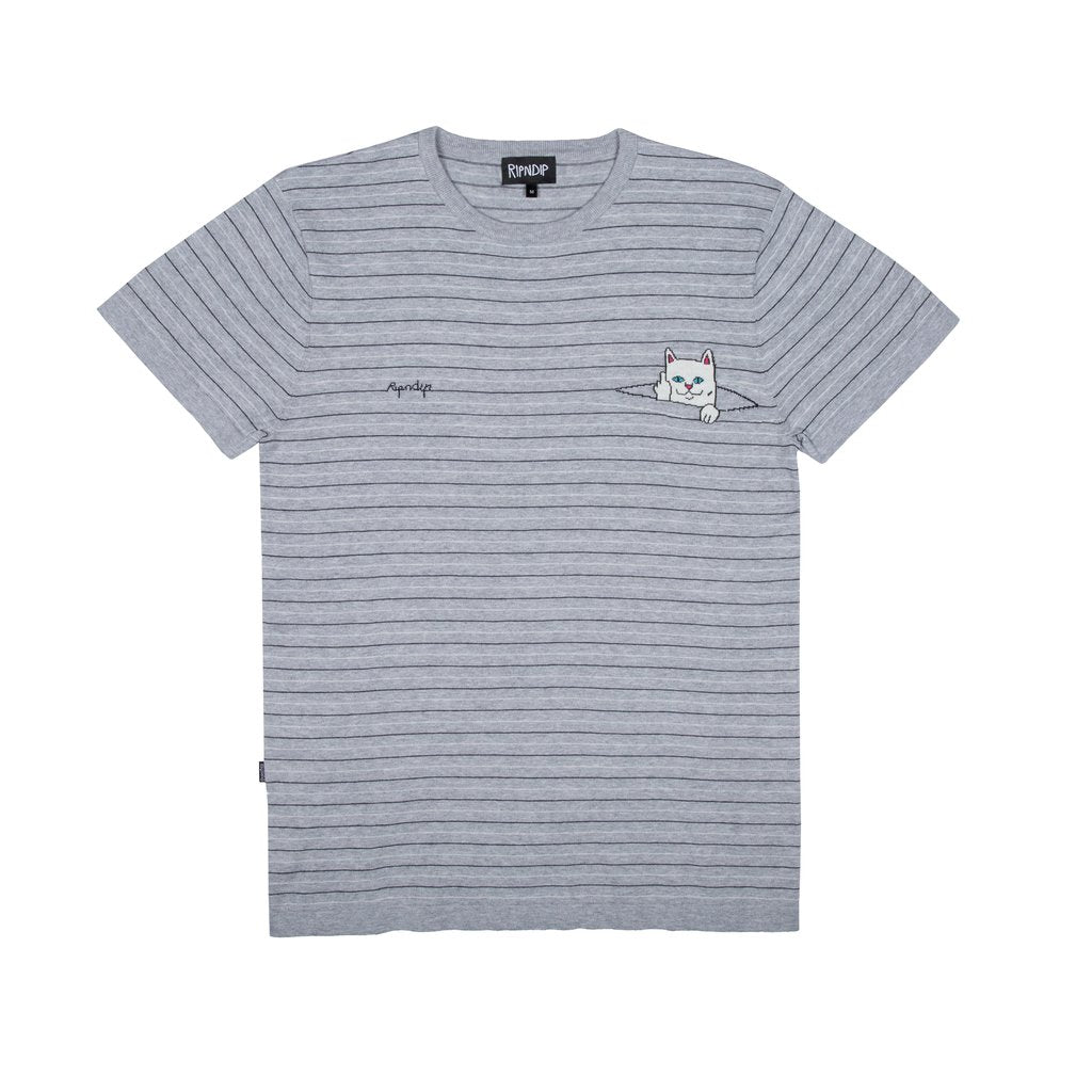 Peek A Nermal Knit Tee Black/ Grey
