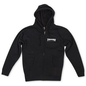 Magazine Logo Zip Hood Black