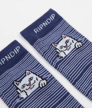 Peeking Nermal Socks Navy