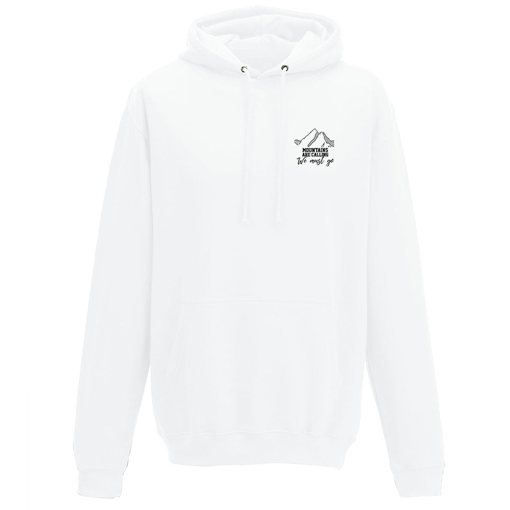 Mountains Calling White Hoodie