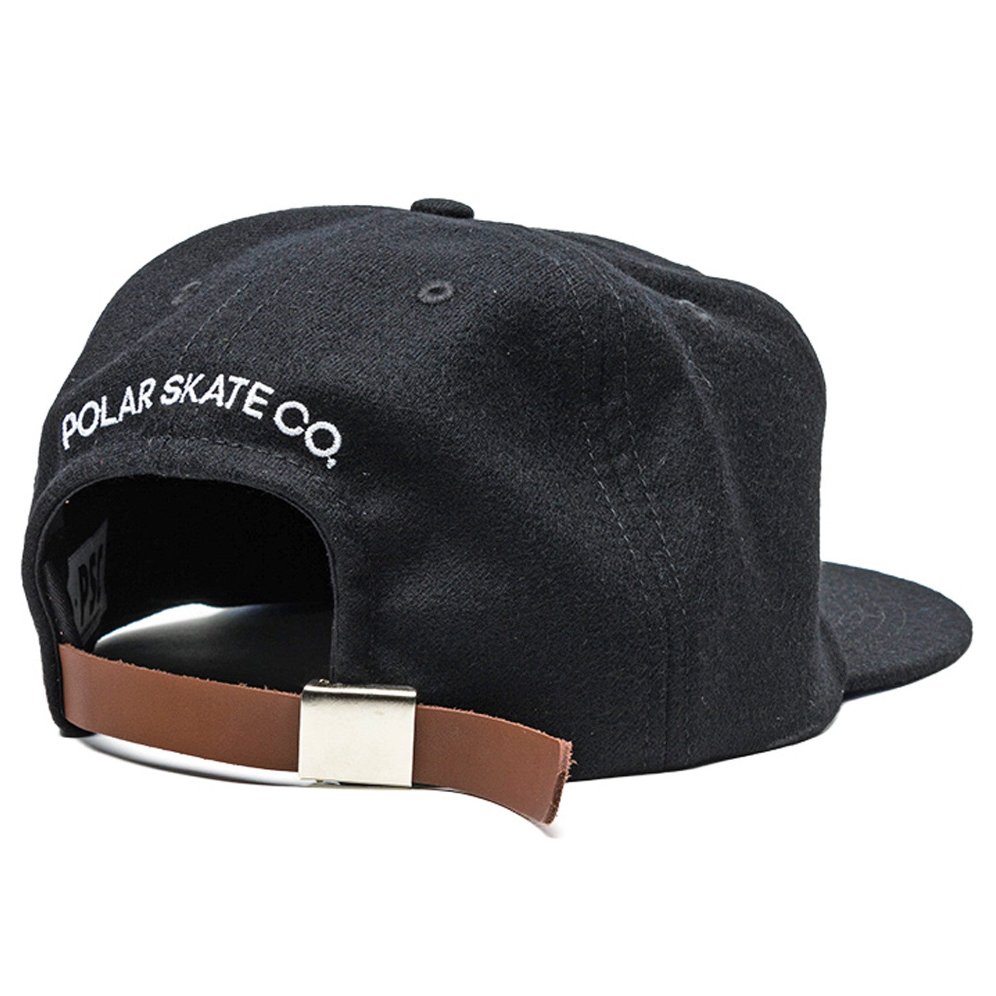 PSC Light Wool Leather Buckle 6-Panel Cap Black/Blue - Stoked Boardshop  - 2