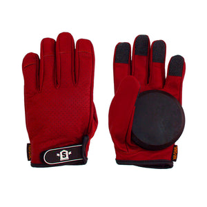 Lederen Slide Gloves Red - Stoked Boardshop