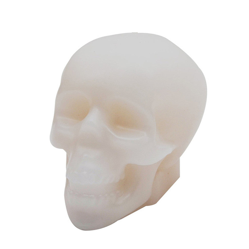 Wax skull head white