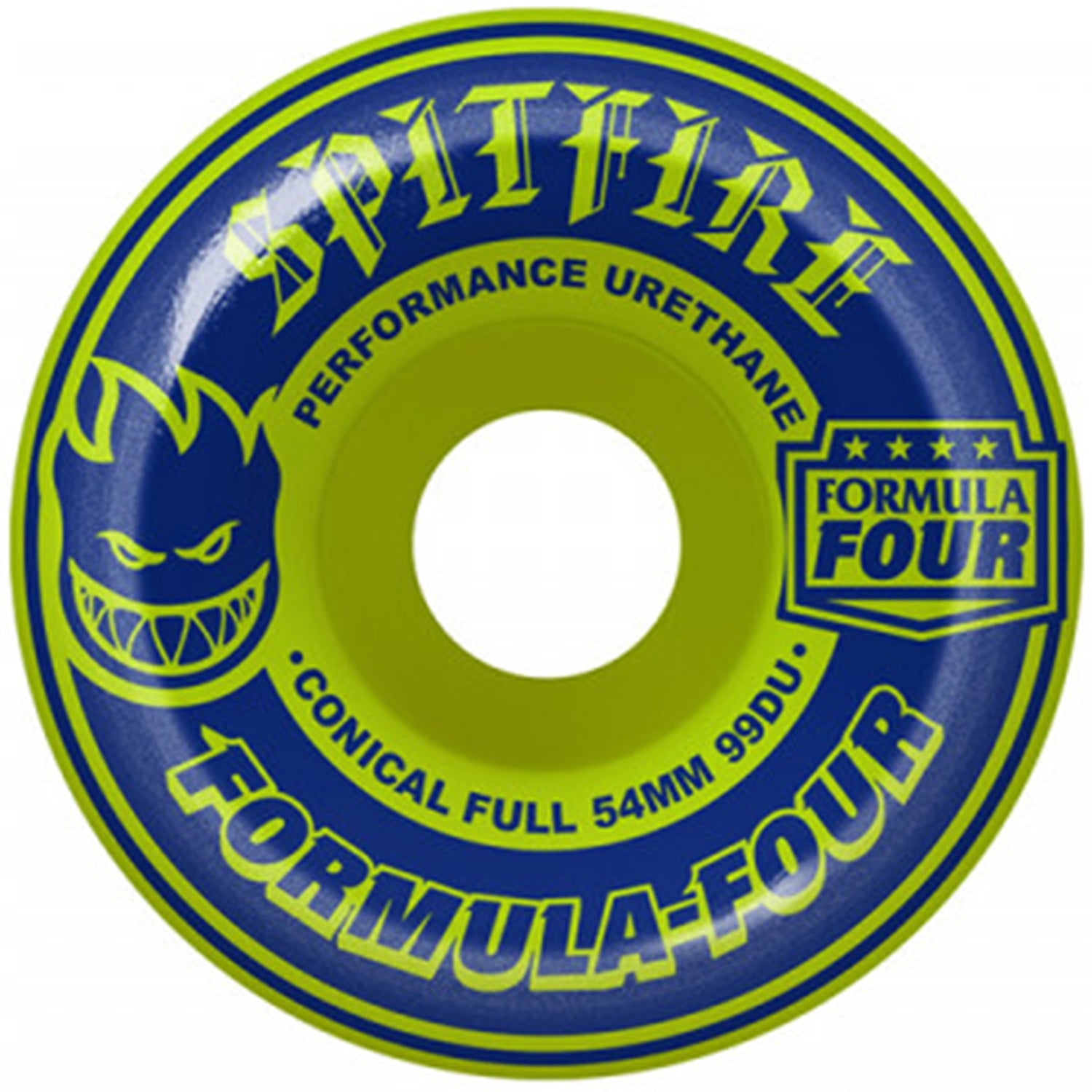 Formula Four Conical Full Navy/Lime Mash 54