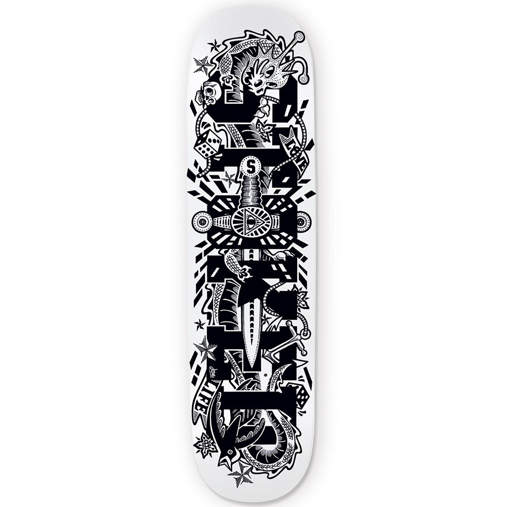 Illuminati White Skateboard Deck