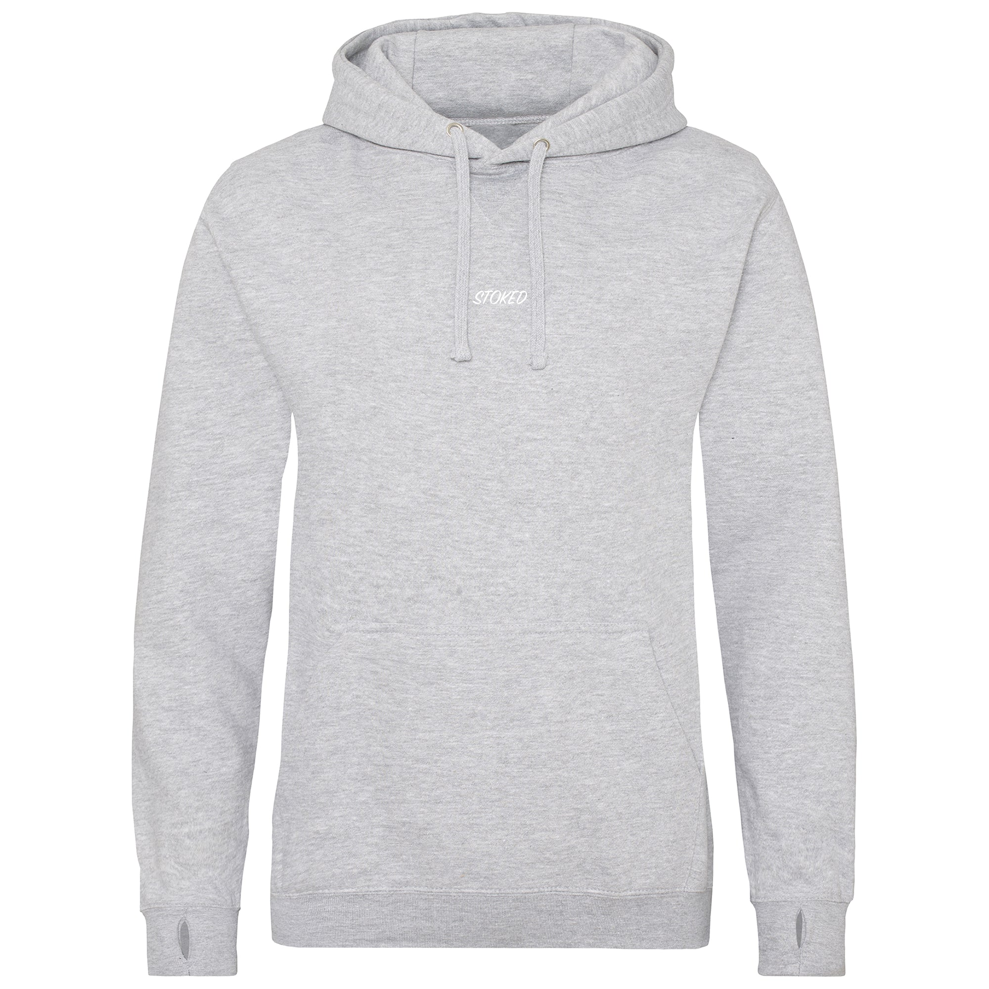 Heavyweight script Hoodie Heather Grey