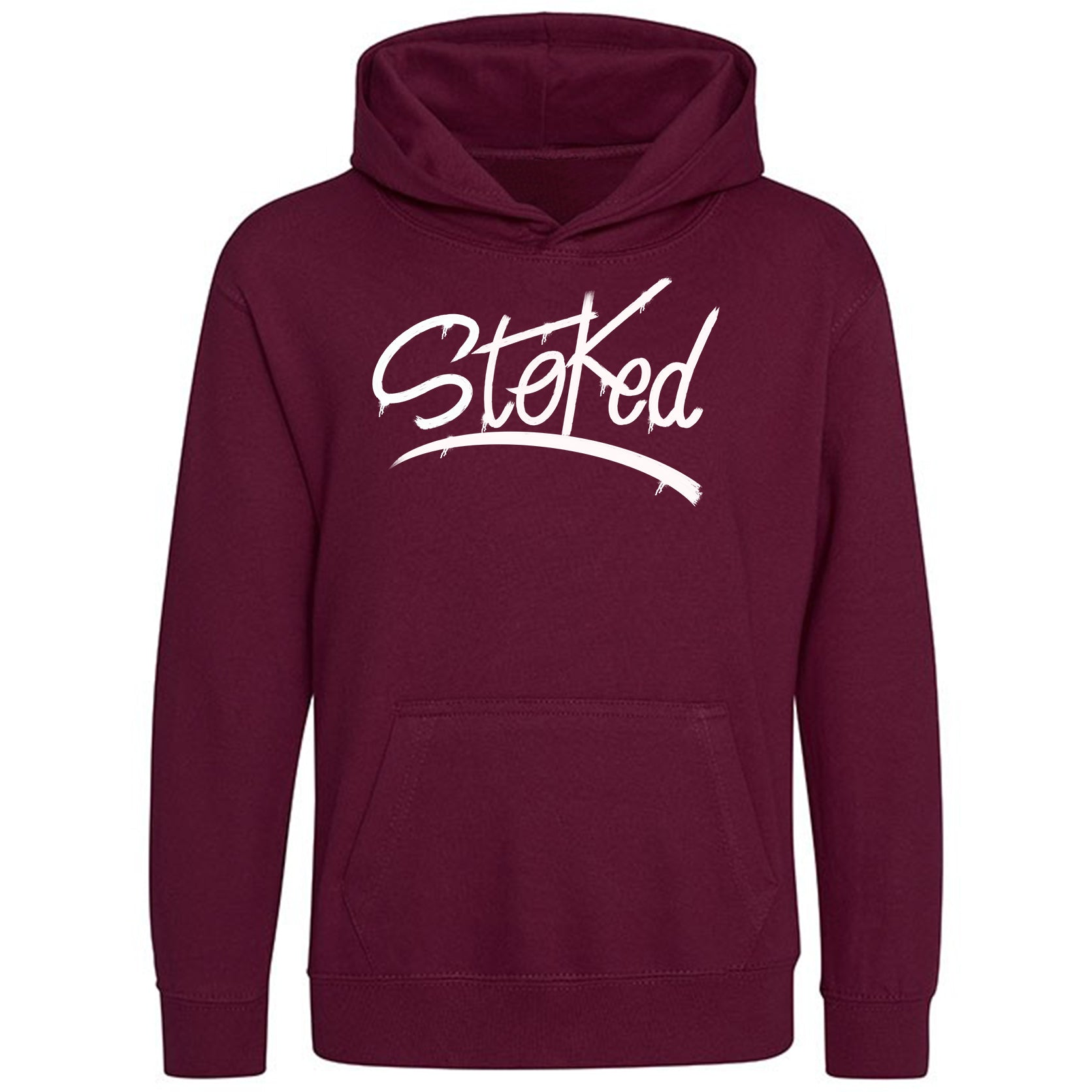 Youth Stoked Spray burgundy Hoodie