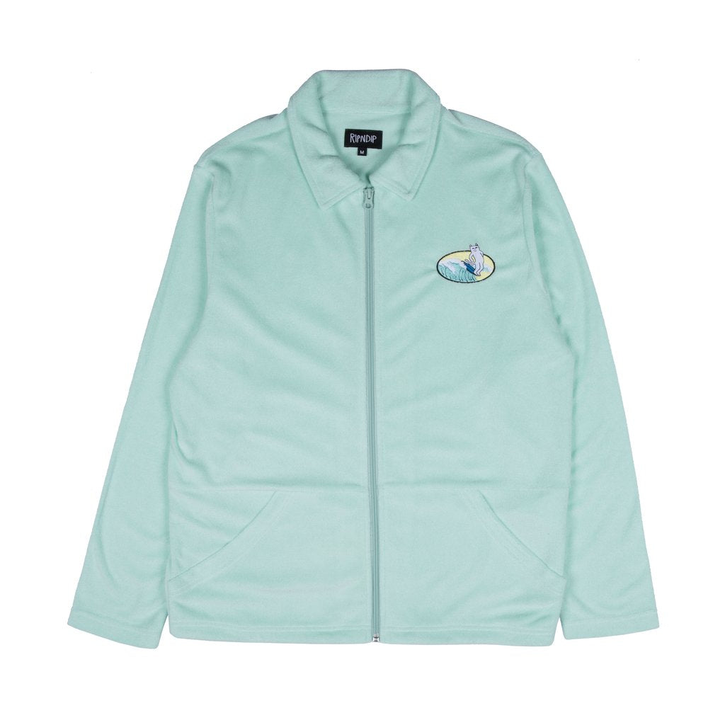 Paradise Terry Cloth Zip Up Jacket Mint