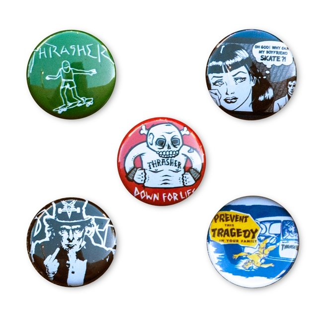 Usual Suspects Buttons 5 pack