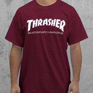 Skate mag t-shirt Maroon - Stoked Boardshop  - 2