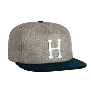 Wool classic H ash/navy strapback - Stoked Boardshop