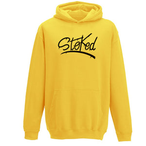 Youth Stoked Spray Yellow Hoodie
