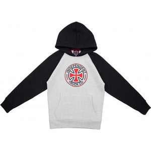 Kids Directional Raglan Hood Black/ Athletic Heather