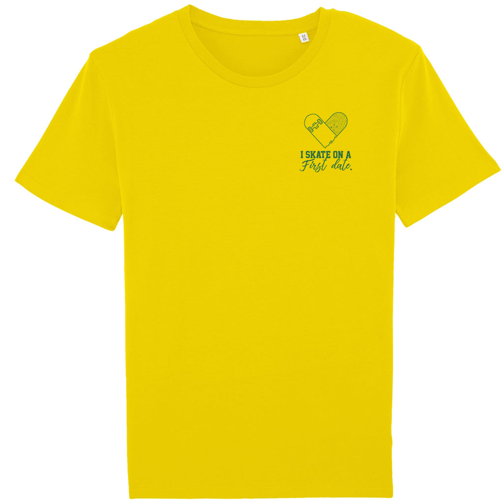 Youth Skate Date t-shirt yellow