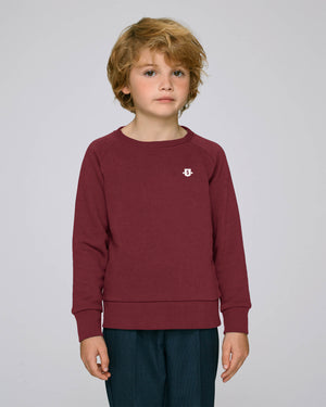 Youth Shield crew burgundy
