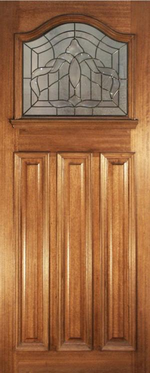 Malton Obscure Glass Hardwood Single Glazed Dowelled