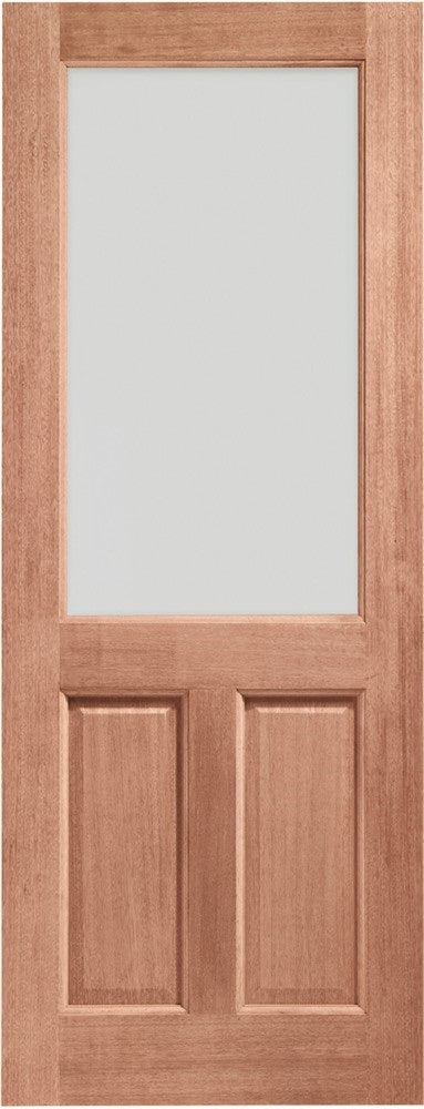 Turin With Obscure Glass Oak External Door, MT Double Glazed