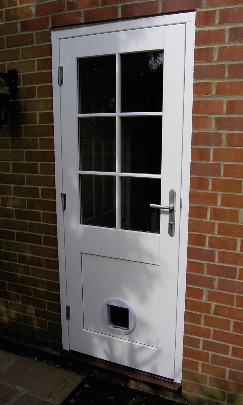 Bespoke External Timber French Doors, clear glass