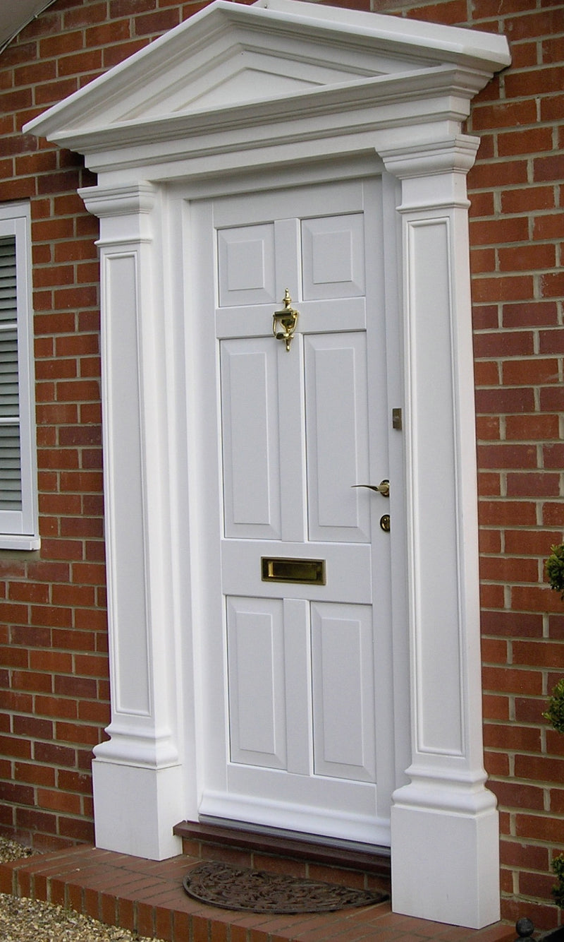 6 pane door, matching sidelights, bespoke