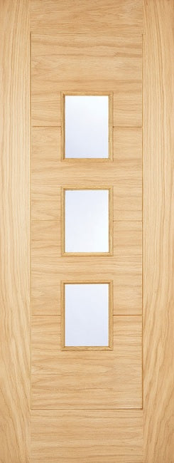 Arta 3 Light Oak Dowel Frosted Double Glazed